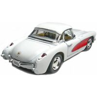 New Kinsmart 1957 Chevrolet Corvette Chevy Diecast Model Toy Car 1:34 White