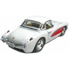 New Kinsmart 1957 Chevrolet Corvette Chevy Diecast Model Toy Car 1:34 White