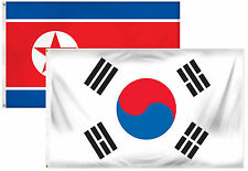 2x3 2'x3' Wholesale Combo Korea & South Korea 2 Flags Flag
