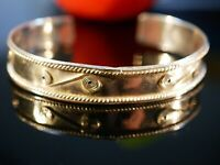 Toller Silber Armreif Armspange Wirbel Muster Struktur Symbole Vintage Retro
