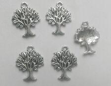 5 x tibetan silver arbre de vie charmes (18x22mm) pour collier bracelet bijoux