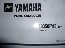 Yamaha RD 350 LC YPVS 57V F1 Manual de lista de piezas Catálogo N1 RZ 350.