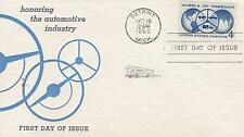 EASTMAN CHEMICAL PRODUCTS 1ST CACHET-FIRST DAY COVER FDC 1960 WHEELS OF FREEDOM