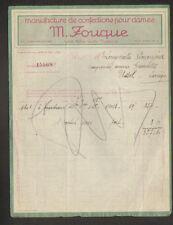 """LYON (69) USINE de VETEMENTS / CONFECTIONS pour DAME """"M. FOUQUE"""" en 1925"""