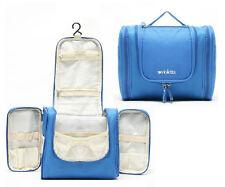 Mens Blue Hanging Hook Toiletries Bag Wash Shower Organizer Kit Case Handy #33