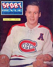 1959 (Jan.) Sport Revue, Hockey magazine, Tom Johnson, Montreal Canadiens ~ Good