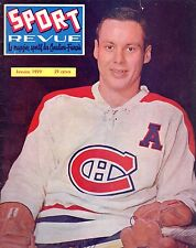 1959 (Jan.) Sport Revue, Hockey magazine, Tom Johnson, Montreal Canadiens ~ Fair