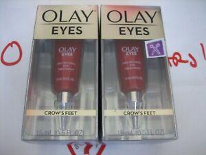 2 Pack Olay Eyes Pro-Retinol Eye Treatment for Crows Feet, 0.5 fl. oz. Each New