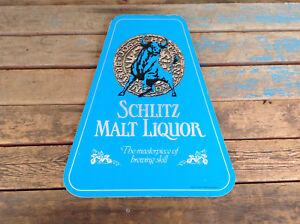 Vintage 1981 Schlitz Malt Liquor Counter Top Advertisement Sign