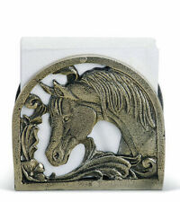 New listing Elegant Horse & Flower Napkin Holder Vintage Look Aluminum Equestrian Pony new