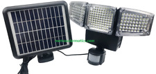 188 LED TRIPLE HEAD SOLAR ENERGY MOTION ACTIVATED 1200 LMS OUTDOOR FLOOD LIGHT
