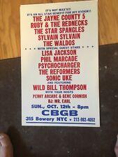 Cbgb'S Poster Vintage Featuring Wild Bill Thompson