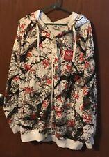 Unique LRG White Gray Brown Hooded Jacket Coat Sz 2XL EXCELLENT ~*~  Tub18