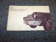 1965 Rambler American Original Owner Owner's Operator User Guide Manual
