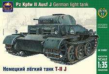 ARK MODELS 35007 GERMAN LIGHT TANK PZ KPFW II AUSF J SCALE MODEL KIT 1/35 NEW