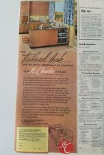 1954 Saint Charles tailored look retro steel kitchen cabinets design ad