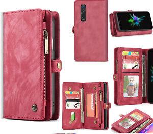 Oppo Find X2 Pro Wallet Case Suede Multi Card Zip