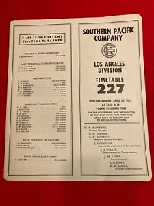 SOUTHERN PACIFIC COMPANY 227 TIMETABLE 1965