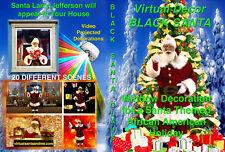 BLACK VIRTUAL SANTA, AFRICAN AMERICAN SANTA LARRY JEFFERSON DVD by Jon Hyers