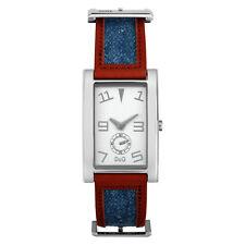 Dolce e Gabbana Reloj Acero Mujer Unisex D&g Time Azul Jeans Pitón dw0018