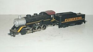 Vintage Tyco Powered HO Scale Train Steam Locomotive No. 5 & Clementine Tender