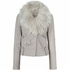 Unbranded Women's Faux Leather Basic Jackets