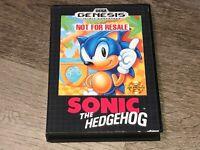 Sonic the Hedgehog Sega Genesis w/Case Authentic