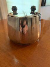 Art Deco Sterling Silver Puiforcat bowl with Marble Top Lids 14.4 ounces