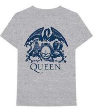 Queen-Freddie Mercury-Blue Crest-X-Large Heather Grey T-shirt