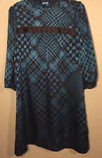 Antonio Melani - New Women's Dress Brown Teal Box Shift Size 8 NWT Party Formal