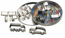 KITCHENCRAFT Set 7 Transport Metal Biscuit/Cookie Cutters in Tin. Kids/Baking.