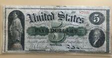 1863 $5 five dollar legal tender Union greenback Treasury note