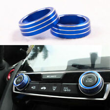 Blue AC Air Condition Control Switch Cover Ring Fit For Honda Civic 2016 2017