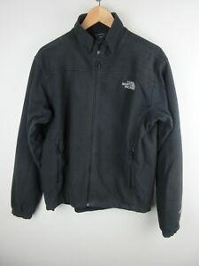 The North Face Polartec Mens Jacket Size M Windbreaker Soft Shell Fleece Black