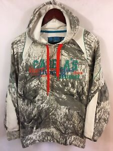 Cabelas Outfitters Hoodie Camouflage Pullover Seclusion 3D Open Country Womens M