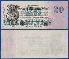20 millones de marcos 25.7.1923 kassenfrisch ro.96 B