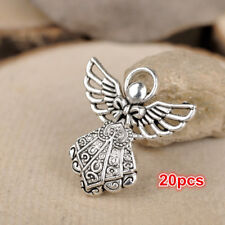 """20pcs 1"""" Tibetan silver Tone Angel Pendant Charms Jewelry Crafts Beads Findings"""
