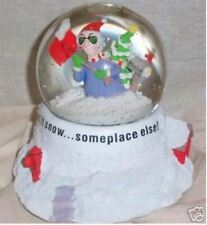 Hallmark's Maxine Let is Snow.Someplace Else! Motorized Winter Snowglobe Euc