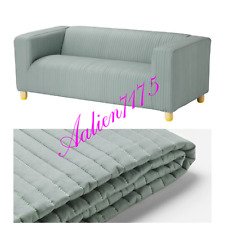 IKEA KLIPPAN Loveseat Couch Slipcover, 2 Seat Sofa Cover, Lyckebyn dark gray NEW