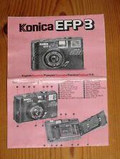Konica EFP 3 - Bedienungsanleitung - mehrsprachig