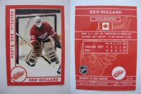 2015 SCA Ken Holland rare Detroit Red Wings goalie never issued produced #d/10
