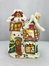 """Santa's Workshop Cookie Jar 12"""" Presented By Christmas In Cobblestone Village"""