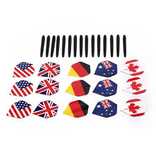 15pcs nylon dart shafts and 15pcs nice pattern darts flights dart accessoriesSC