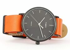 Timex  Weekender Fairfield TW2P91400 Men's Watch, Orange Leather Strap