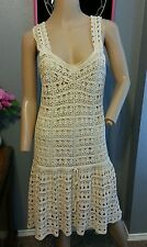 Vince Creme Crochet Lace Boho Sun Dress M
