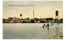Dunnville Ontario ON Canada - WATER FRONT - Handcolored Postcard