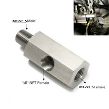 Stainless Steel Adapter Fitting Tee 1/8''NPT to M12x1.5 Oil Feed Pressure Sensor