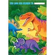 Dinosaur party treat bags loot bag boy birthday party 8 favors loot bags