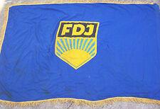 Schöne FDJ Fahne 166 cm x 107 cm true vintage DDR JP Jugend GDR flag !