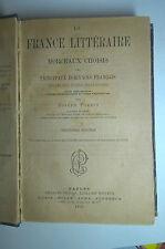 OTTOCENTINA LA FRANCE LITTERAIRE CHOISIS 1892